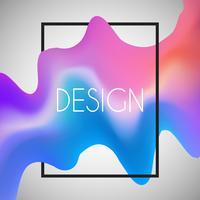 Fundo abstrato com forma 3D no quadro branco vetor