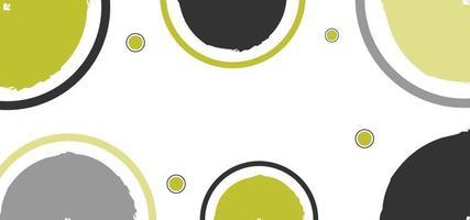 formas geométricas modernas fundo amarelo e preto ou banner vetor