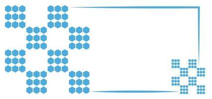 fundo simples de pontos azuis ou banner vetor