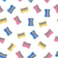 padrão sem emenda de desenho vetorial com apontador colorido em fundo branco para web, impressão, textura de pano ou papel de parede. vetor