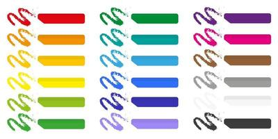 conjunto de ilustrações de desenho vetorial com giz colorido sobre fundo branco. vetor