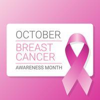 Fundo de fita de conscientização de câncer de mama vetor