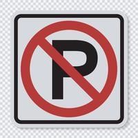 nenhum sinal de estacionamento vetor