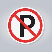 sem estacionamento ou sinal de parada vetor