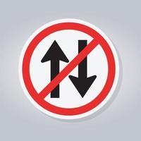 Proibir sinal de trânsito de mão dupla vetor