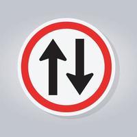 sinal de trânsito de mão dupla vetor