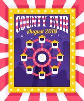 Folheto da feira de condado vetor