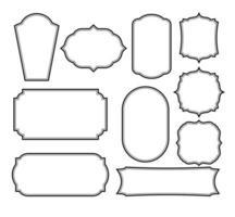 conjunto de molduras de design de borda vetor