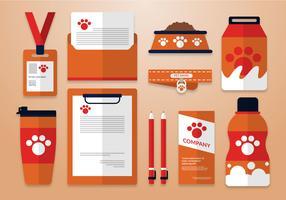 Modelo de identidade corporativa de cuidados com animais de estimação vetor