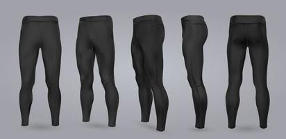 homens leggings pretas. vetor