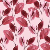 padrão floral sem emenda. fundo com folhas-de-rosa. vetor