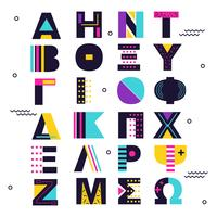 Vetor De Alfabeto Grego Abstrato