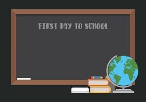 Primeiro dia de volta à ilustração de escola para crianças ou estudante. vetor