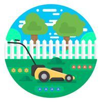 Cortador de grama vetor