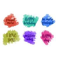 Mensagens positivas coloridas de vetor