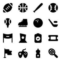 esportes e equipamentos vetor
