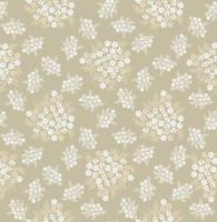 buquê floral biege elegante padrão sem emenda. fundo de azulejo ornamental de flor. florescer papel de parede ornamental de verão com flores. vetor