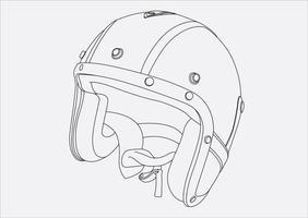 capacete mão desenho no vetor 10