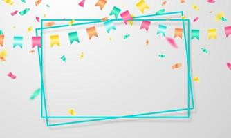 fundo de banner do quadro de celebração. ilustração vetorial vetor