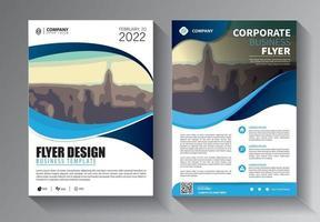 design de brochura, layout moderno da capa, modelo de relatório anual vetor