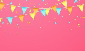 bandeira cor conceito design modelo feriado dia feliz, ilustração em vetor fundo celebração.