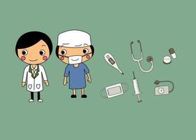 ícone do doutor dos desenhos animados vetor