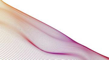 linha dinâmica colorida em fundo branco, design de conceito de onda sonora digital, vetor