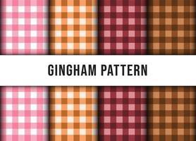 conjunto conjunto de padrão sem emenda de toalha de mesa de linha xadrez xadrez. vetor premium