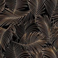 padrão sem emenda de vetor de folha de palmeira