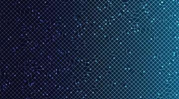 tecnologia de microchip de circuito cibernético em plano de fundo futuro, design de conceito digital e de comunicação de alta tecnologia, espaço livre para texto colocado, ilustração vetorial. vetor