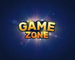 banner de entretenimento da zona de jogo. logotipo do jogo. ilustração vetorial. vetor
