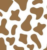 padrão de textura de vaca. fundo local. modelo de pele de animal. vetor eps 10