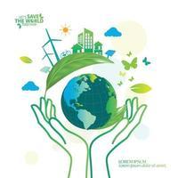ecologia e preservação do meio ambiente concepção de conceito de ideia criativa vetor