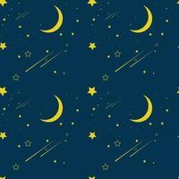 ilustração vetorial padrão sem emenda de atmosfera noturna vetor