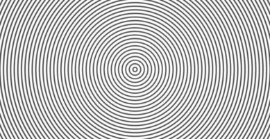 círculo concêntrico. ilustração para onda sonora. padrão de linha de círculo abstrato. gráficos em preto e branco vetor