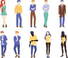 conjunto de figuras de pessoas. ilustrações minimalistas vetor