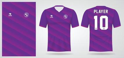 modelo de camisa esportiva roxa para uniformes de time e design de camisetas de futebol vetor