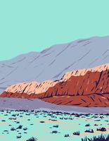 red rock canyon em red rock canyon área de conservação nacional localizada em clark county nevada wpa pôster art vetor