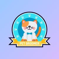 Unique Pet Grooming Vetores de identidade corporativa