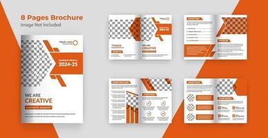páginas modelo de folheto de perfil da empresa vetor