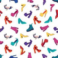 sapatos femininos padrão sem emenda vetor