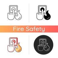ícone de alarme de incêndio vetor