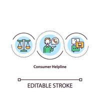 ícone do conceito de linha de apoio ao consumidor vetor
