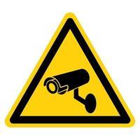 sinal de símbolo de câmera de segurança cctv vetor