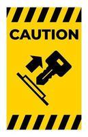 puxar sinal de símbolo de chave vetor