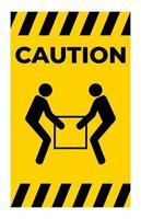 use sinal de símbolo de elevador para duas pessoas vetor
