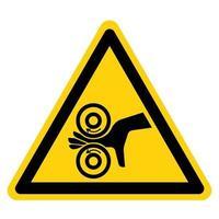 mão enredar sinal de símbolo esquerdo vetor