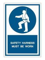 arnês de segurança deve ser usado símbolo de símbolo vetor