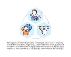 ícones de linha de conceito de proteção de direitos do consumidor com texto vetor