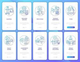 tela da página do aplicativo móvel de integração das atividades da empresa com o conjunto de conceitos vetor